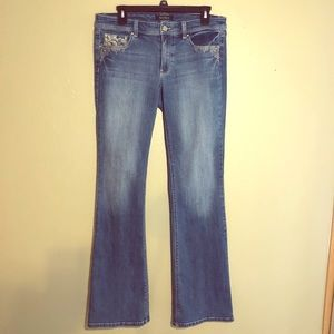 White House Black Market bootcut jeans light wash